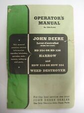 Vintage John Deere Operator's Manual OM-F4-847 HD 224 336 Harrow Weed Destroyer