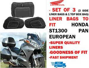 PANNIER LINER SIDE BAGS & TOP BOX BAG FOR HONDA ST 1300 PAN EUROPEAN (PACK OF 3)