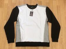 Ladies Voi Jeans DESIGNER Slouchy Sweatshirt Top in White   Black Size 14 28d7adcbd