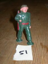 ca 1960'S BARCLAY DIMESTORE LEAD TOY SOLDIER MARCHING WITH RIFLE #51