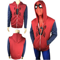 Spider Man Homecoming Hoodie Jacket Peter Parker Casual Coat Cosplay Costume Hot