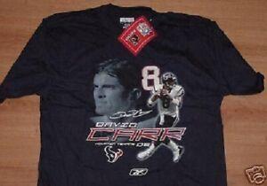 David Carr Houston Texans Jersey Style T-shirt XL Navy NFL