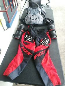 FOX - Clear Chest Protector(XL), Racing Pants(Size 36) and Fly Racing Pads