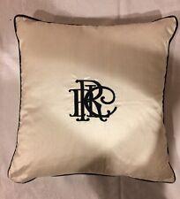 NWT Ralph Lauren Decorative Throw Pillow  Monogram 100% Silk