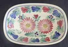 Henriot Quimper Pottery Colourful Trinket / Pin Dish Floral Motifs