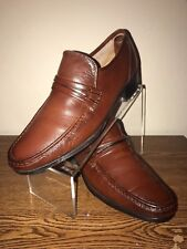 Men's FREEMAN BROWN LOAFER LEATHER SZ 10.5 Business Dress Casual Shoes Slip on