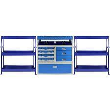 3 x Van Racks Metal Storage Shelving & Racking Drawers Steel Unit Tool System