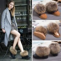 Women's Anti-SKID Winter Ankle Snow Boots Real Fox Fur RACCOON FUR Shoes