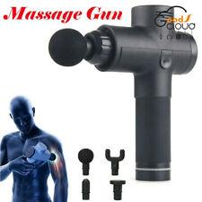 Новый профессиональный ручной массаж мышц пистолет глубокие ткани тела вибрации терапии