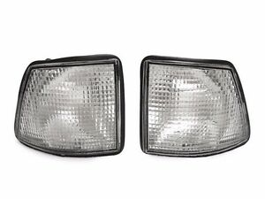 Pair Front Corner Turn Signal Clear lamp Light for BMW 7 86-94 E32