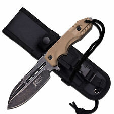 MTech Extreme Blackwash 440C Tactical Fixed Blade Knife With Sheath MX-8136TN