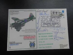 RAFES RAF SC28 FLOWN COVER ESCAPING SOCIETY SHS SIGNED SCOTTIE BRAZILL