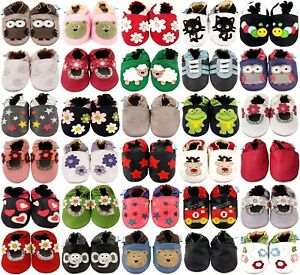 MINIFEET SOFT LEATHER BABY SHOES / TODDLER SHOES - 0-6 Months up to 3-4 Years