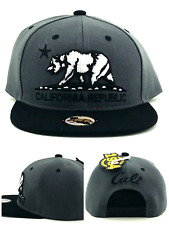 Wynn 1954 New California Republic Cali Youth Gray Black Era Snapback Hat Cap