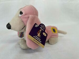 New with Tags Applause Collection #3 2 of 6 Hush Puppies Beanbag Pink Plush Dog