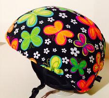 Ski & Sport Helmet cover by Shellskin. MultiColor Butterfly print Spandex.1 Size