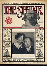 The Sphinx Van & Jean December 15, 1924 Vintage Magicians Magazine