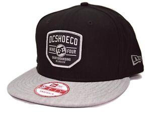 DC Shoes Bloker New Era 9Fifty Adjustable Black Snapback Skateboarding Cap Hat