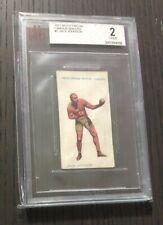 1911 Boys' Friend~JACK JOHNSON~Famous Boxers #1~Rare Card 108 y/o~BVG 2 Good