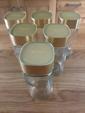 6 x Nescafe Alta Rica Empty Coffee Jars With Lids 100g Crafts Storage Kitchen