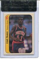 1986 Fleer Basketball Sticker #10 Isiah Thomas Rookie Card RC Graded BGS 8.5