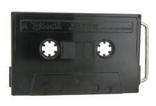 Black Cassette Tape Old School Metal Belt Buckle