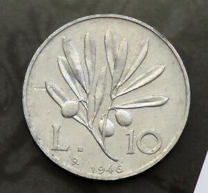 10 lire 1946 - Repubblica Italiana Rara !!! originale !