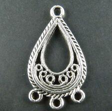 50pcs Tibetan Silver 3-to-1 Earring Connectors 27.5x15.5mm 9195