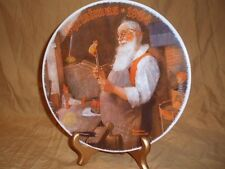 """Norman Rockwell Christmas Plate """"Santa In His Workshop""""Limited Edition # 18555F"""