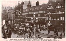 RPPC,Holborn,London,U.K.Old House,Vintage Cars & Buses,c.1912