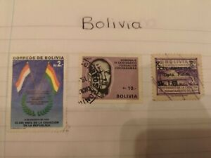 Bolivia Stamps (3 stamps)