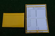 Miclub A5 Std Yellow leather golf scorecard holder - Original and still the Best