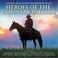 Heroes Of The Country Ballads 2 CD 1950s 1960s Legends Compilation Music New