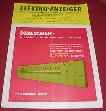 zeitschrift elektro anzeiger girardet technik wirtschaft heft  nov. 1960 alt