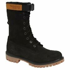"Timberland 6"" Inch Premium Gaiter Boots (Men's Size 12) Black Leather"