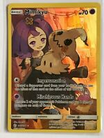 Mimikyu SECRET FULL ART ULTRA RARE 245/236 SM Cosmic Eclipse Pokemon HOLO NM