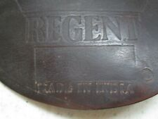 Regent brown leather english saddle flap protector