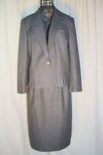 Vintage Suits by Dallas Petite Gray 2-Piece Skirt & Jacket Suite 14/15