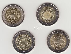 2 EURO 2012 COMM. 10° ANNIVERSARIO DELL'EURO UNC  SCEGLI QUELLE CHE TI SERVONO