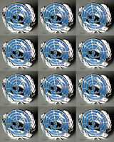 U.N UN United Nations  Peacekeeping Silver Plated Lapel Pin Lot Of 12