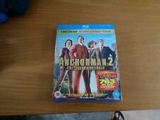 Anchorman 2 - The Legend Continues Blu-Ray (2014) Will Ferrell free postage uk