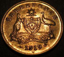1919 Australia 3d Threepence ** ERROR DIE CRACKS ** #919m-3-01