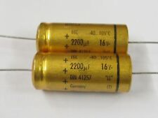 10 trozo Elko 2200µf 16v axial 16x38mm 105 ° C Roederstein capacitor 2200uf 10x