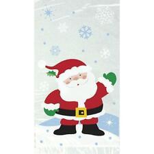 20 Christmas Party Cello Candy Bags - Snowflake Santa