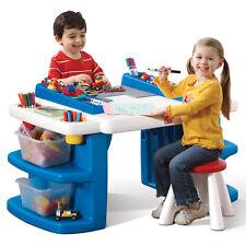Kids Furniture Activity Table Art Craft Build Storage LEGO Mega Blok Compatible
