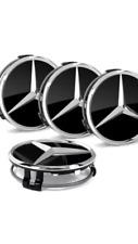 4x Mercedes-Benz Nabendeckel in Schwarz Glanz Felgendeckel Nabenkappe