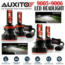 4X AUXITO 9005 9006 LED Headlight Bulbs High Low Beam A8 for Chevrolet GMC 6000K