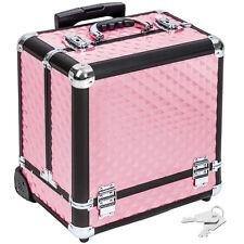 Maleta para cosméticos Maletín de maquillaje estetica Trolley tocador rosa