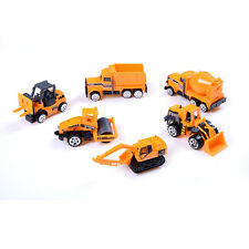 6pcs/set Die casts Car alloy construction vehicle Engineering Truck Model Toy DS