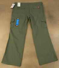 Dickies Women's size 18 Regular Green Relaxed Fit Straight Leg Cargo Pants NWT
